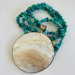 JAY KING TURQUOISE & MOTHER OF PEARL NECKLACE